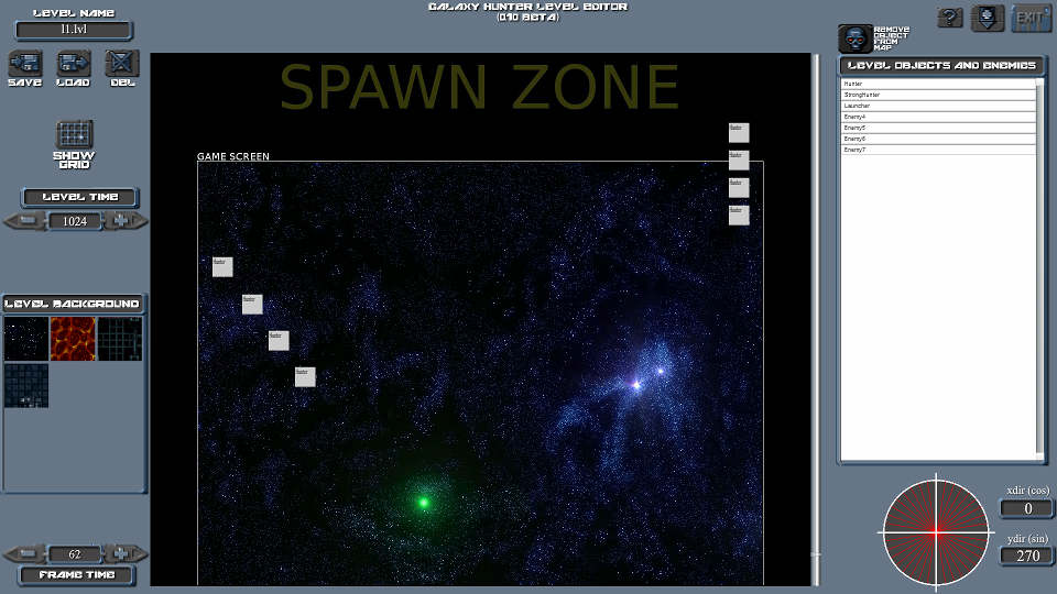 Galaxy Hunter Level Editor